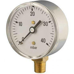 63mm bottom entry low pressure pressure gauge - GNW Instrumentation