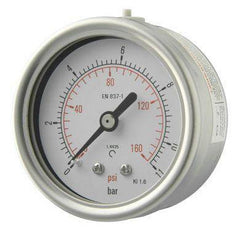 63mm Back Entry All Stainless Steel Pressure Gauge - GNW Instrumentation