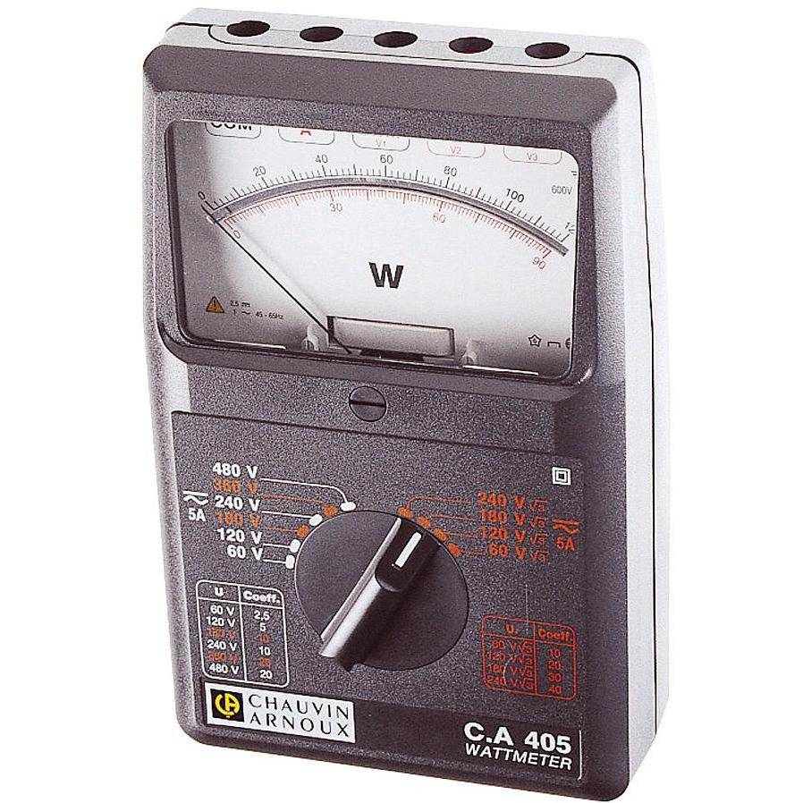 CA405 - Single or 3 Phase Wattmeter,