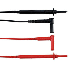 Straight & Elbowed Male Moulded PVC Test Leads With Probes - GNW Instrumentation