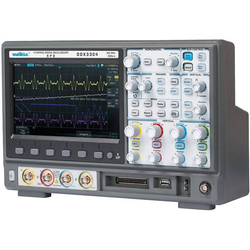 DOX3304 - 4 Channel Digital Oscilloscope 300Mhz - GNW Instrumentation
