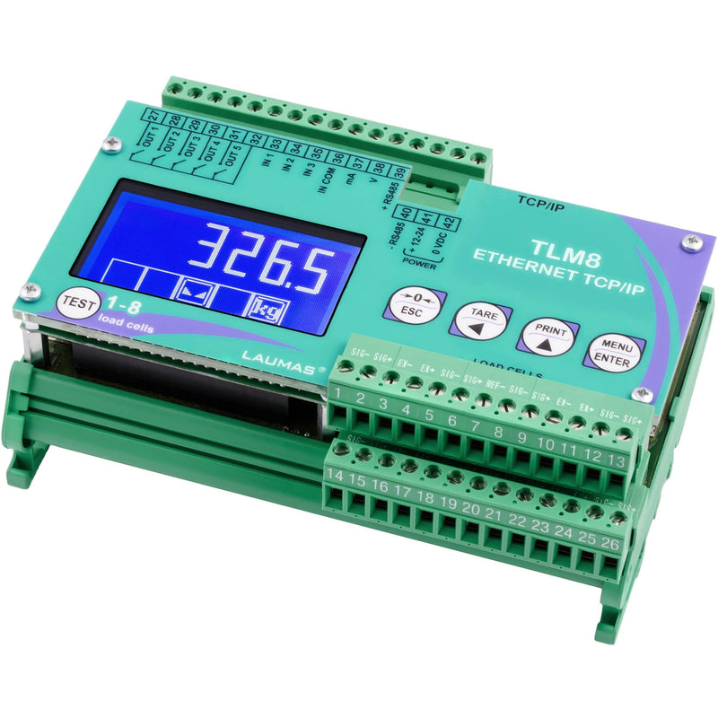 TLM8 Dual Ethernet TCP / IP Weight Transmitter - GNW Instrumentation