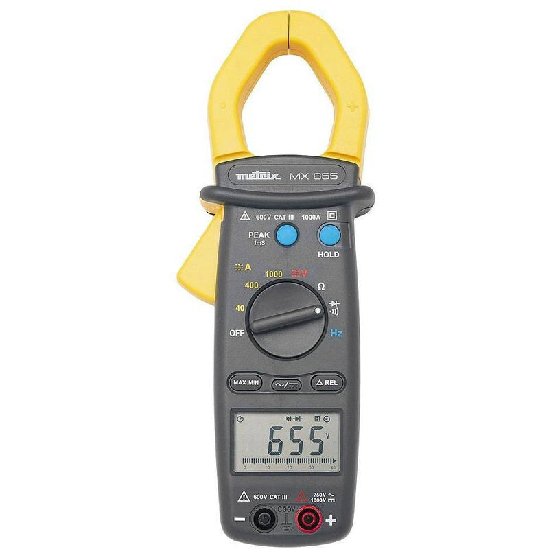 MX655 - Clampmeter, 4,000 count, AC/DC - GNW Instrumentation