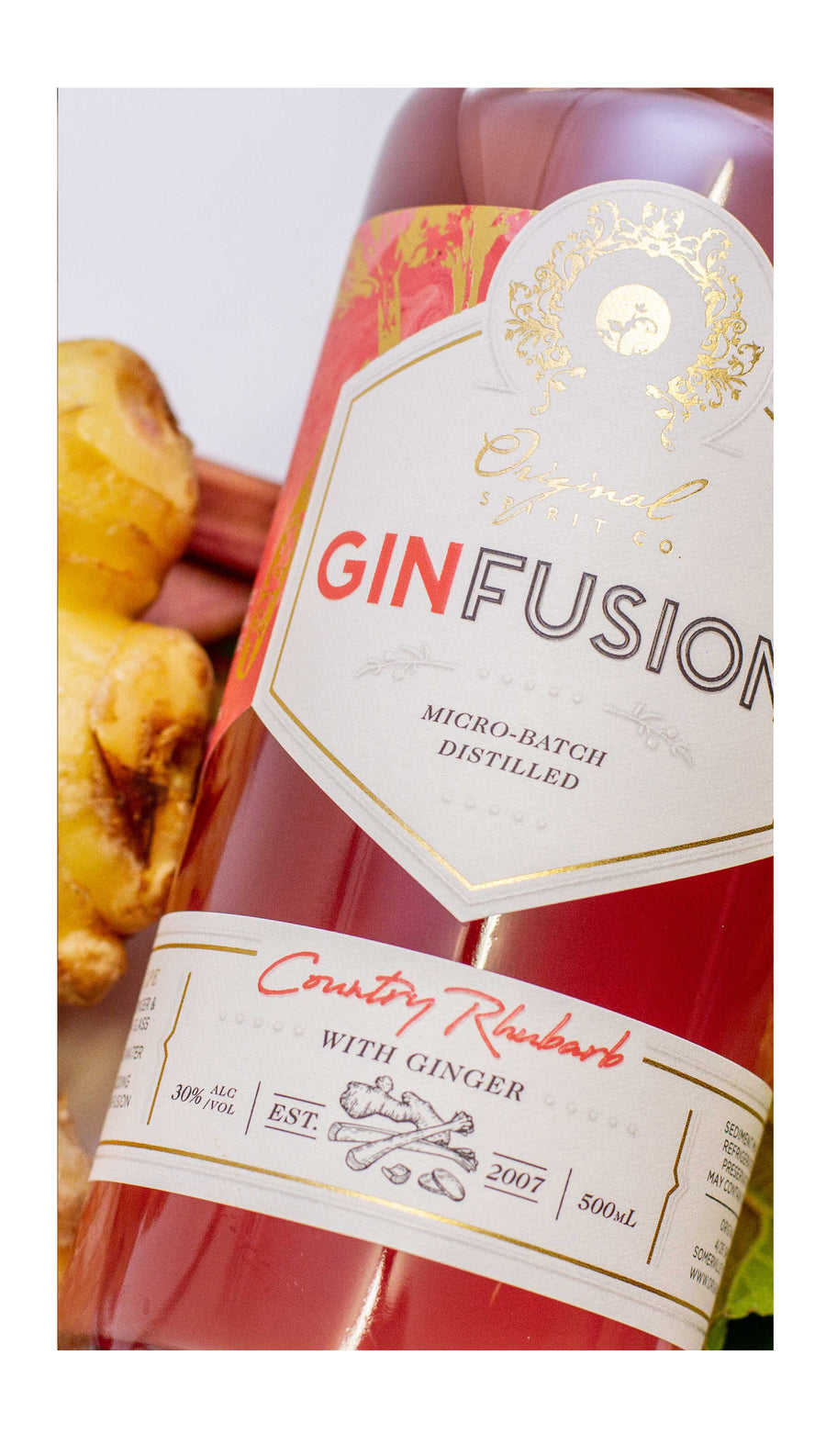 Rhubarb and Ginger Gin from the Mornington Peninsula