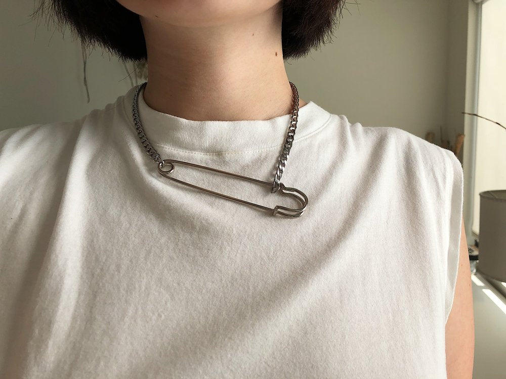 The Simple Safety Pin Necklace