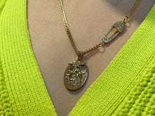 Load image into Gallery viewer, The Gold Safety Zodiac Necklace