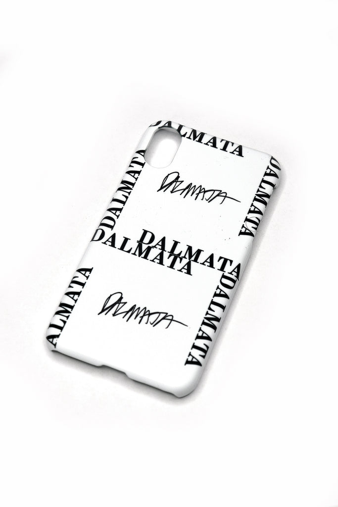 The White DALMATA Logo Phone Case