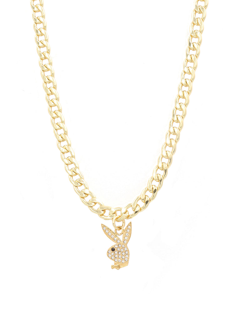 The Gold Playboy Rabbit Head Chain