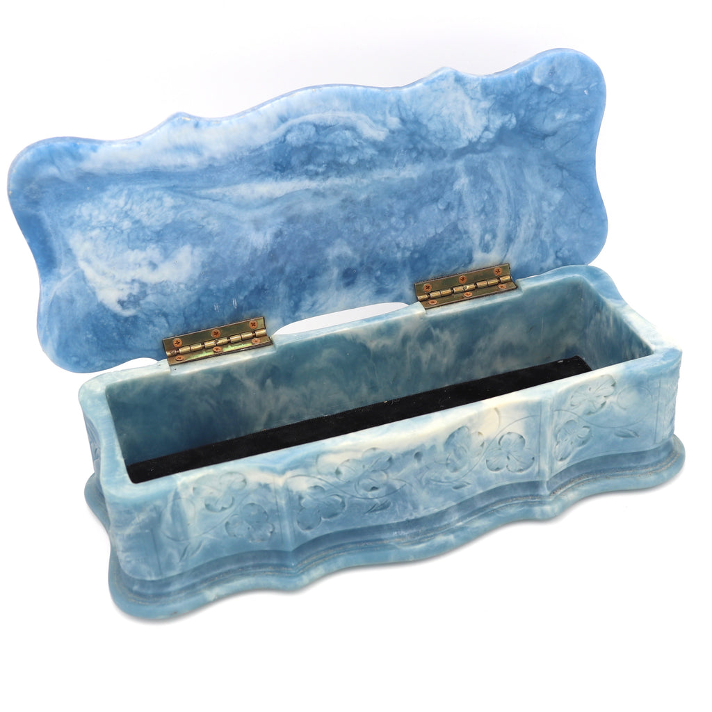 Vintage Blue Venus Jewelry Box