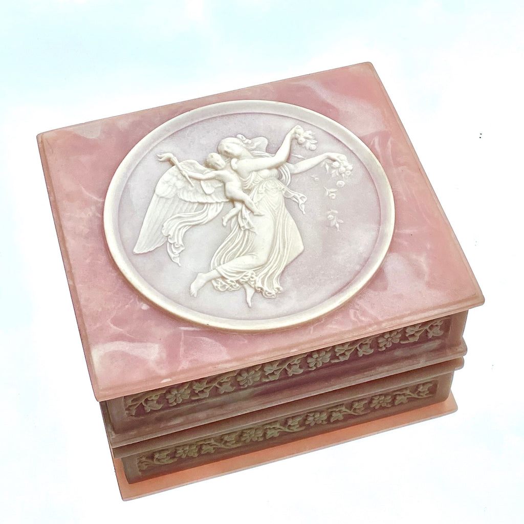 Vintage Pink Angel Jewelry box