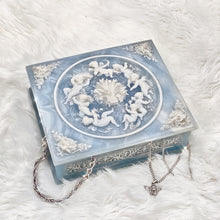 Load image into Gallery viewer, Vintage Blue Square Cherub Box