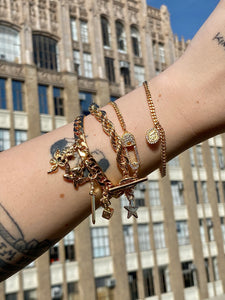The Gold Side Piece Bracelet
