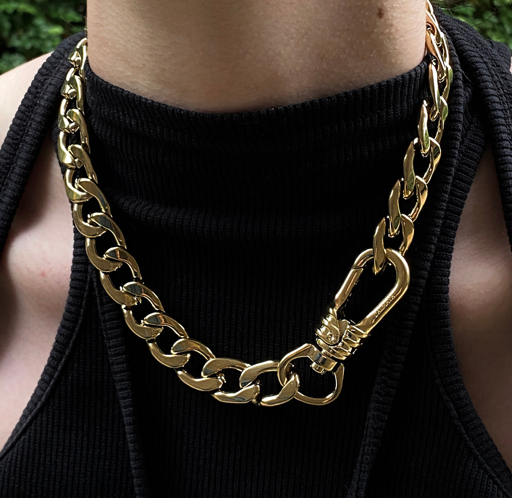 The XL Gold Curb Chain