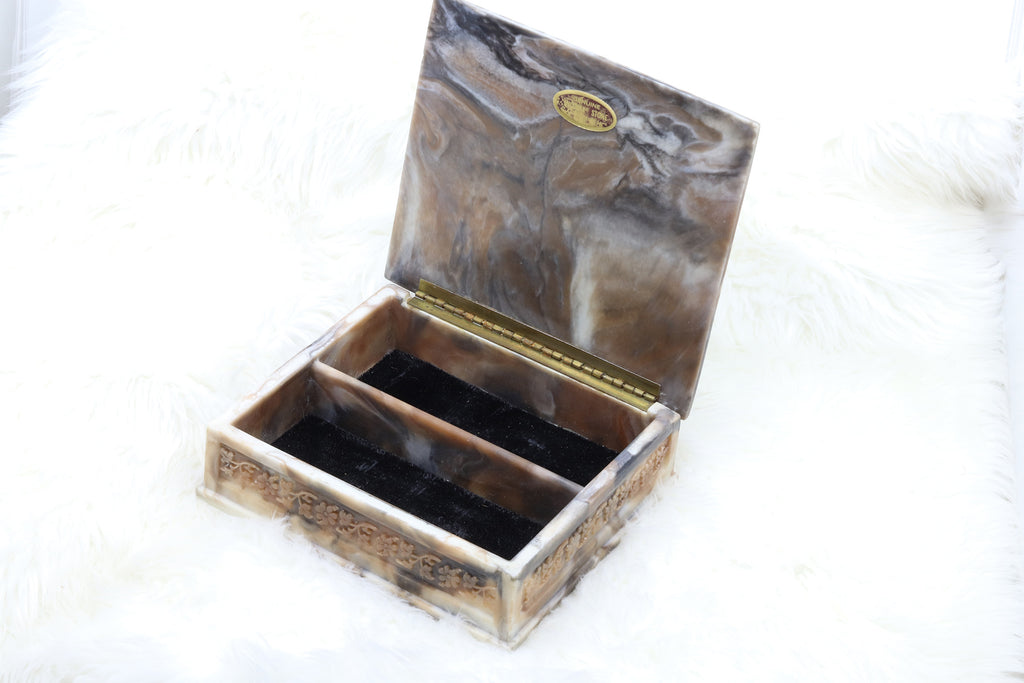 Vintage Square Horse Jewelry Box