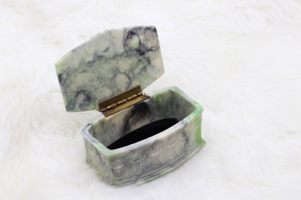 Vintage Green/Blue Jewelry Box