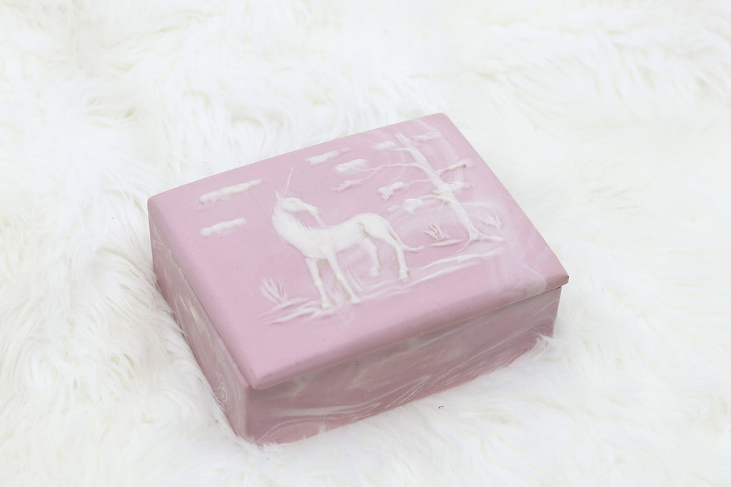 Vintage Unicorn Music Jewelry Box