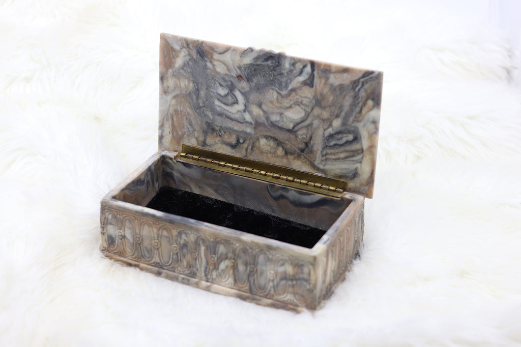 Vintage Victorian Men Playing Cards Jewelry Box