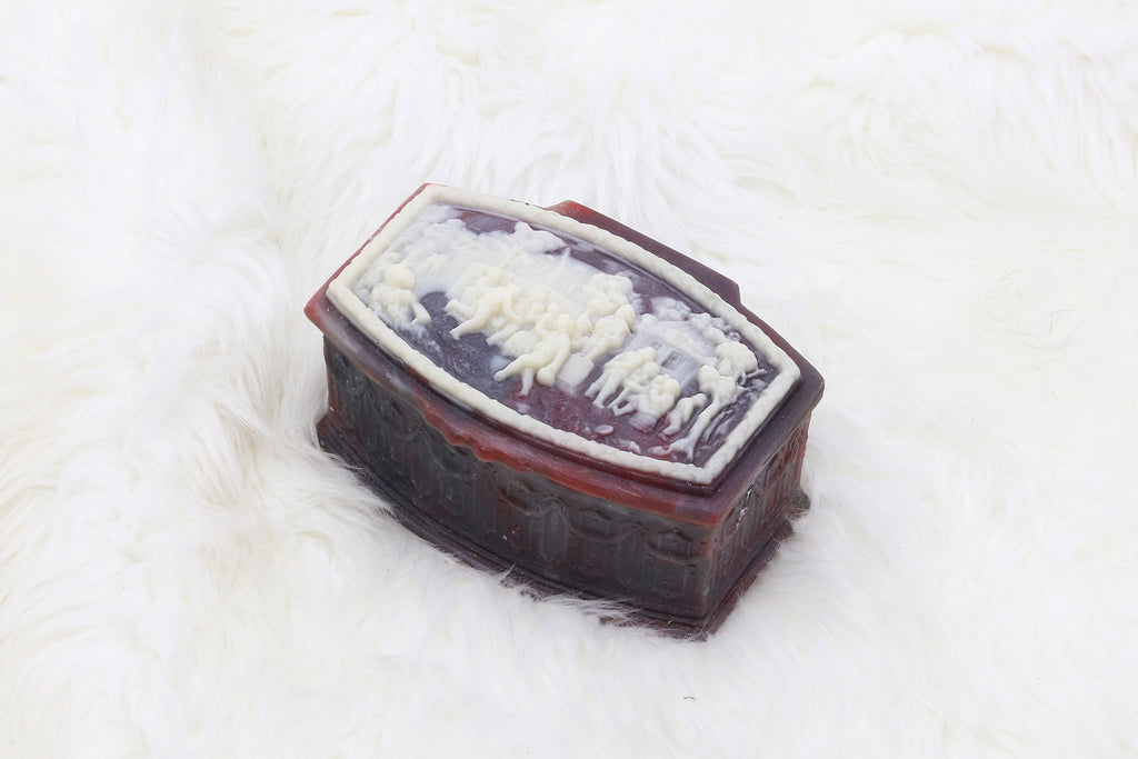 Vintage Dark Purple City People Jewelry Box