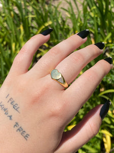 The Gold Drippy Heart Ring