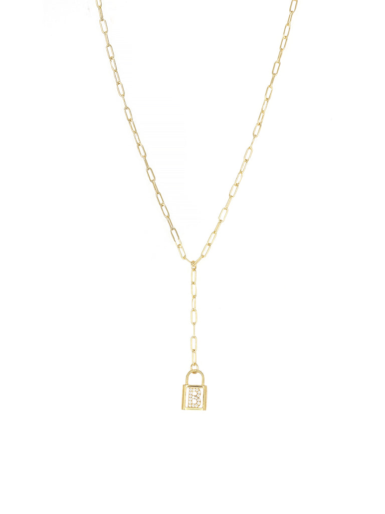 The Gold Letter Lock Chain (Customizable)
