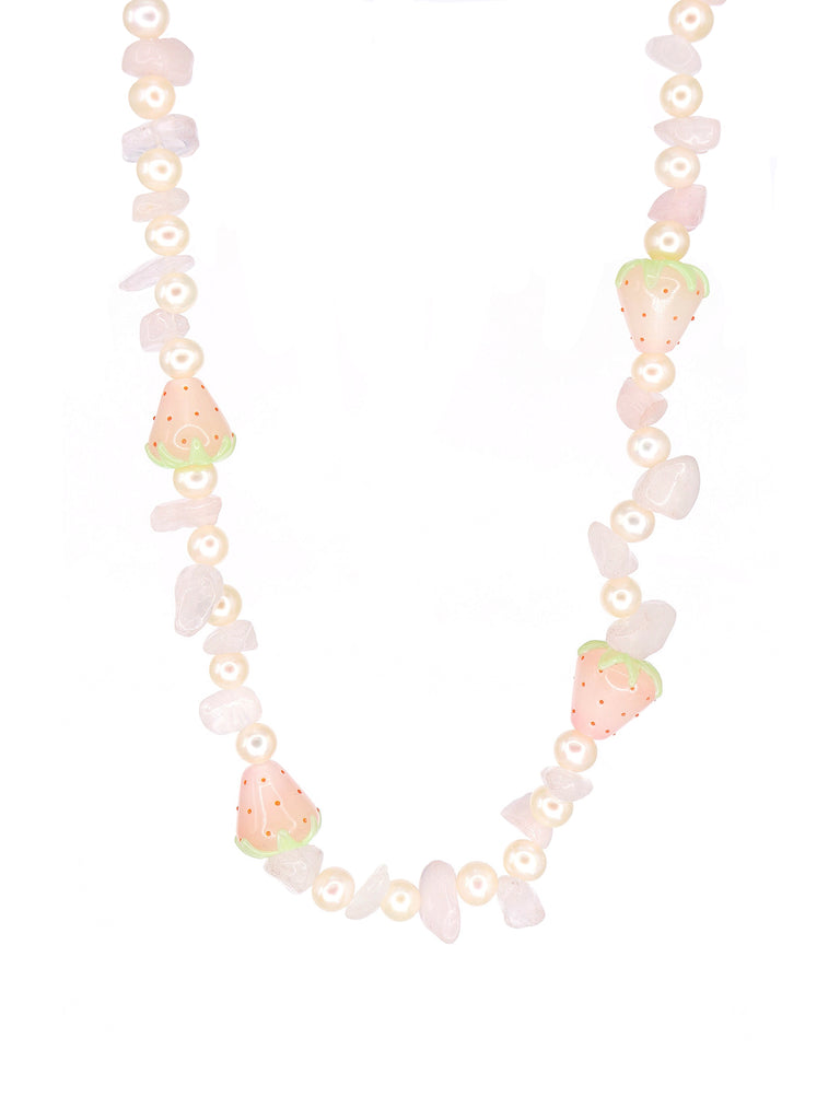 The Strawberry Quartz Necklace