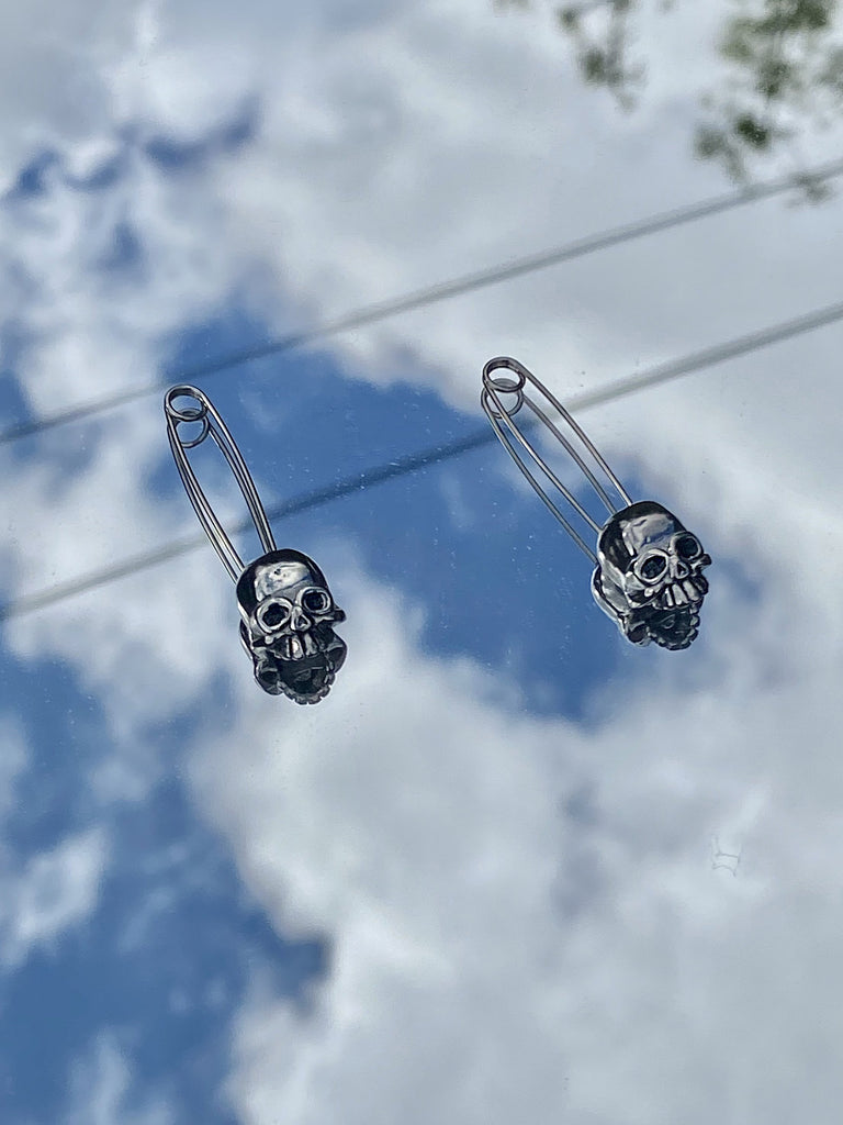 The Safety Skull Earrings