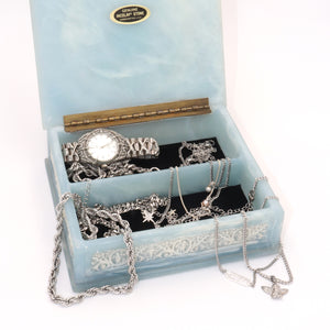 Vintage Blue Square Cherub Box