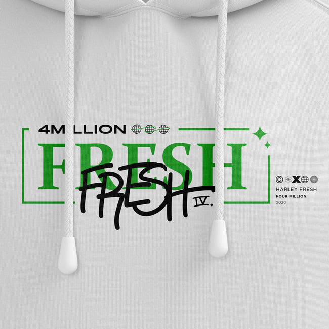 FRESH 4 MILLION HOODIE - WHITE