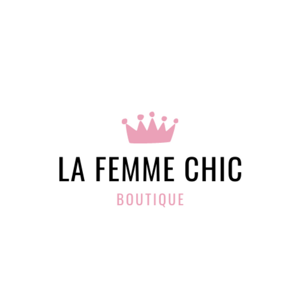 Pink and black logo for La femme chic women boutique