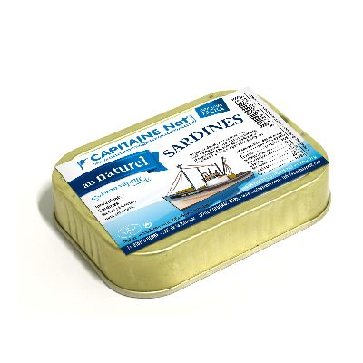 Sardines Naturel **80g  Capitaine Nat