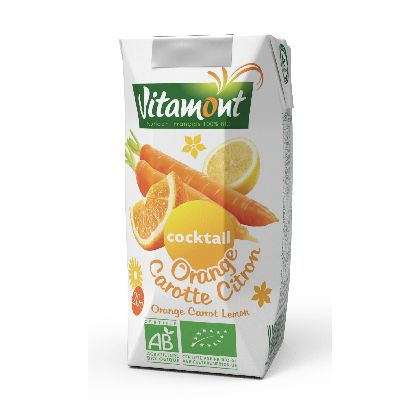 Cocktail Orange Carotte Citron 20cl Vitamont