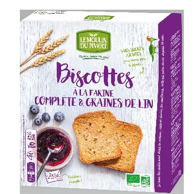 Biscottes Complete Graines Lin 270g Pivert