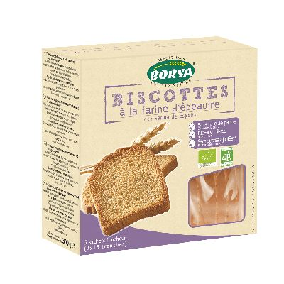 Biscottes Epeautre 300 G Borsa