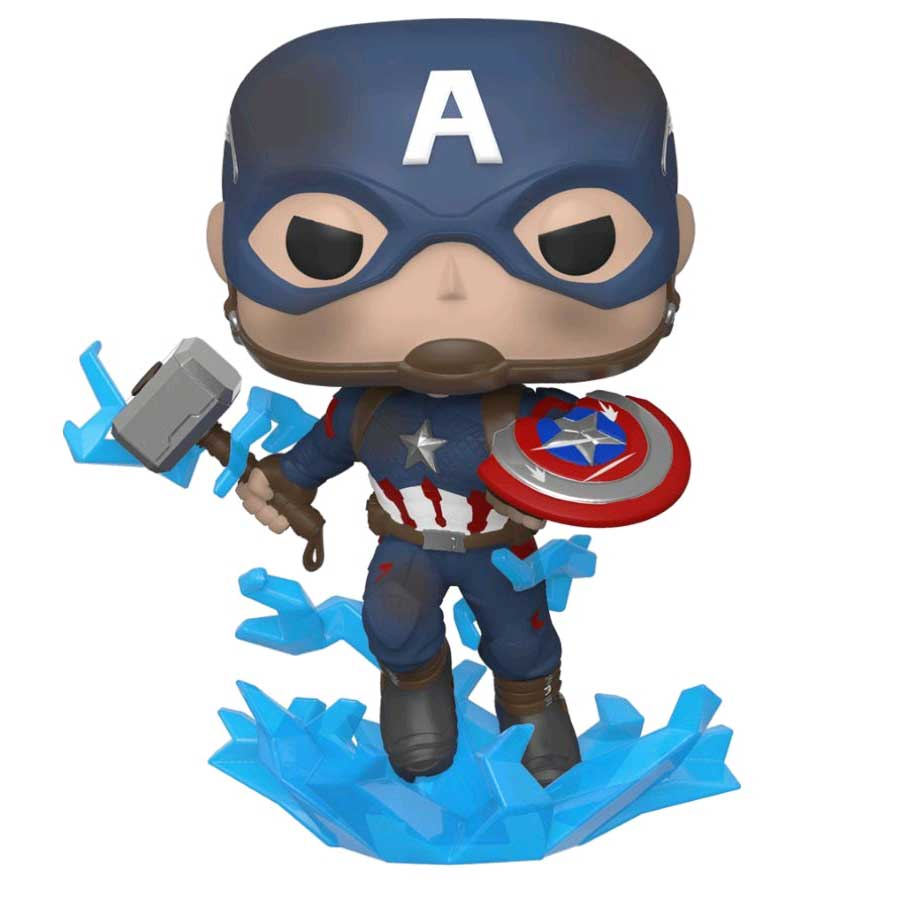 Marvel Avengers 4: Endgame – Captain America with Mjolnir Pop! Vinyl Figure