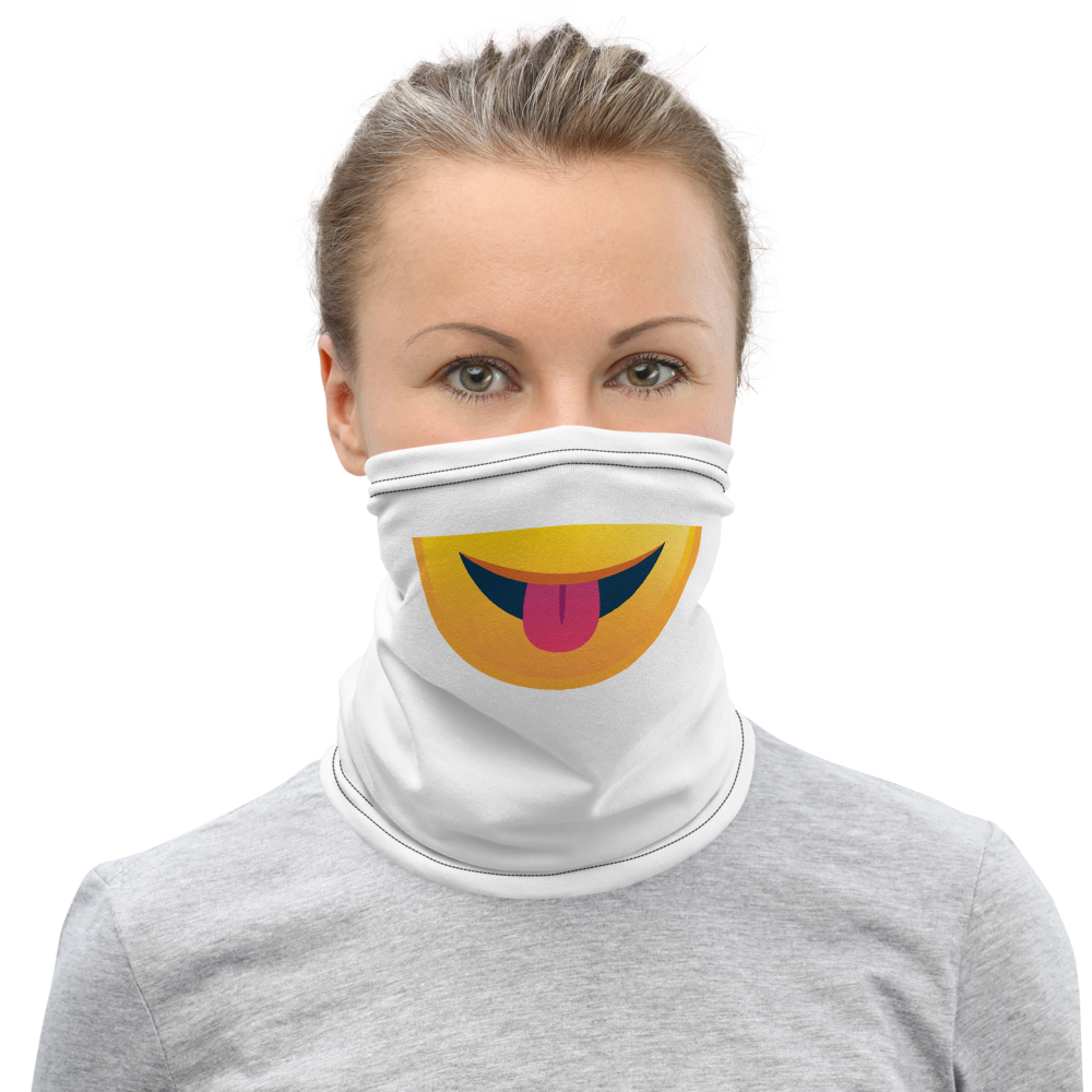 Neck Gaiter - Silly emoji face covering and face protection