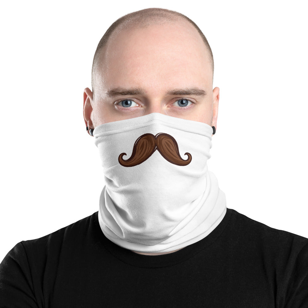 Neck Gaiter with Classic Brown Mustache