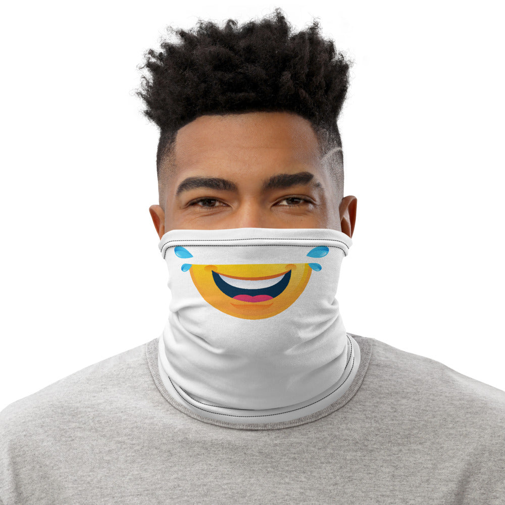 Neck Gaiter - Emoji Laughing Tears for face covering and protective wear