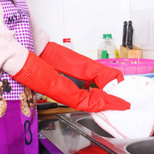 Load image into Gallery viewer, Extra-long dish gloves water-tight sleeves red, durable