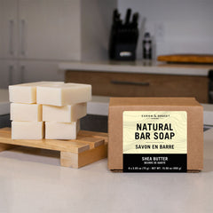 Shea Butter Castile Soap Bars, 6