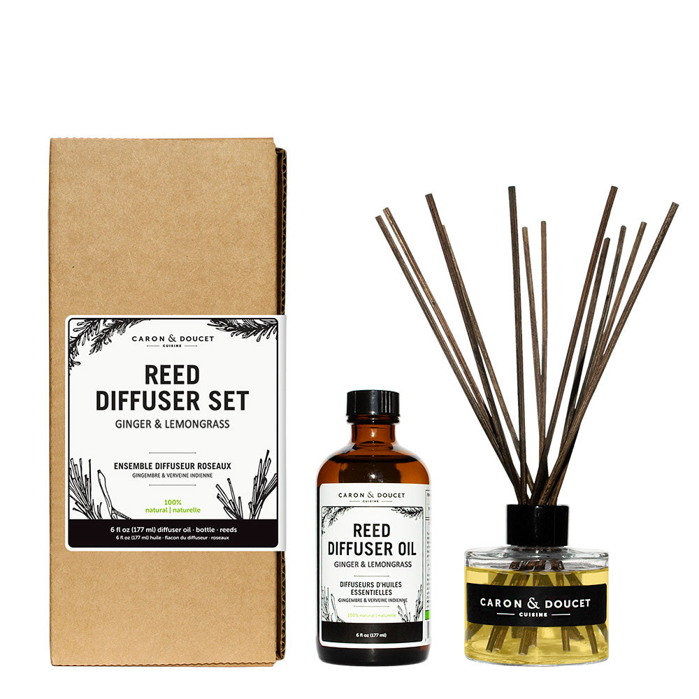 Ginger & Lemongrass Reed Diffuser, 6 oz