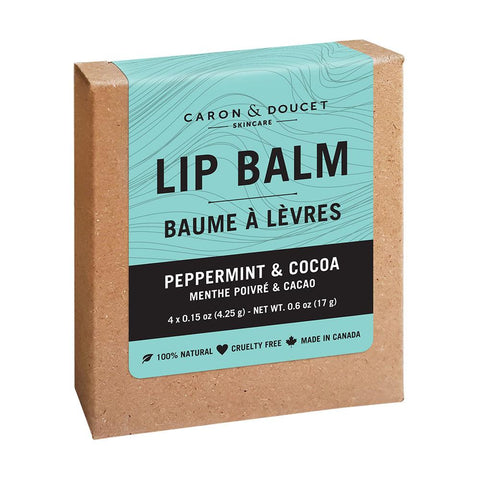 Peppermint & Cocoa Lip Balms (4)
