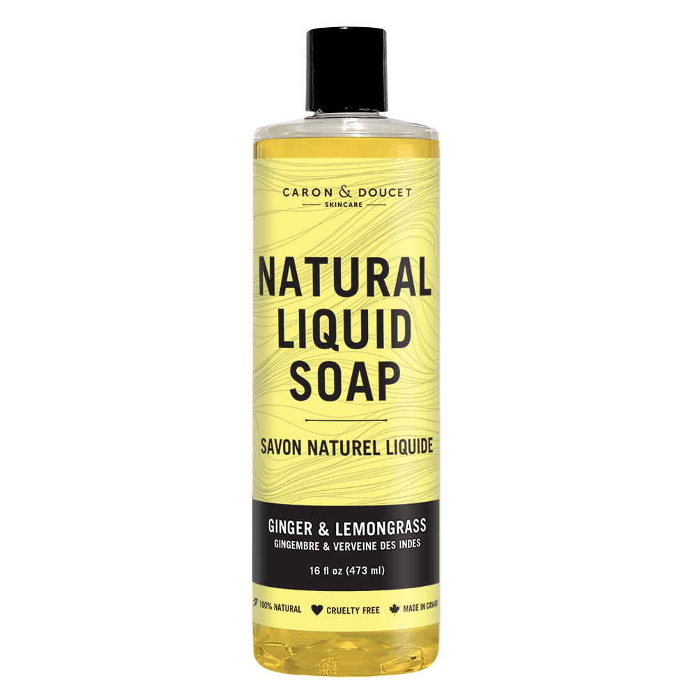 Ginger & Lemongrass Liquid Soap, 16 oz