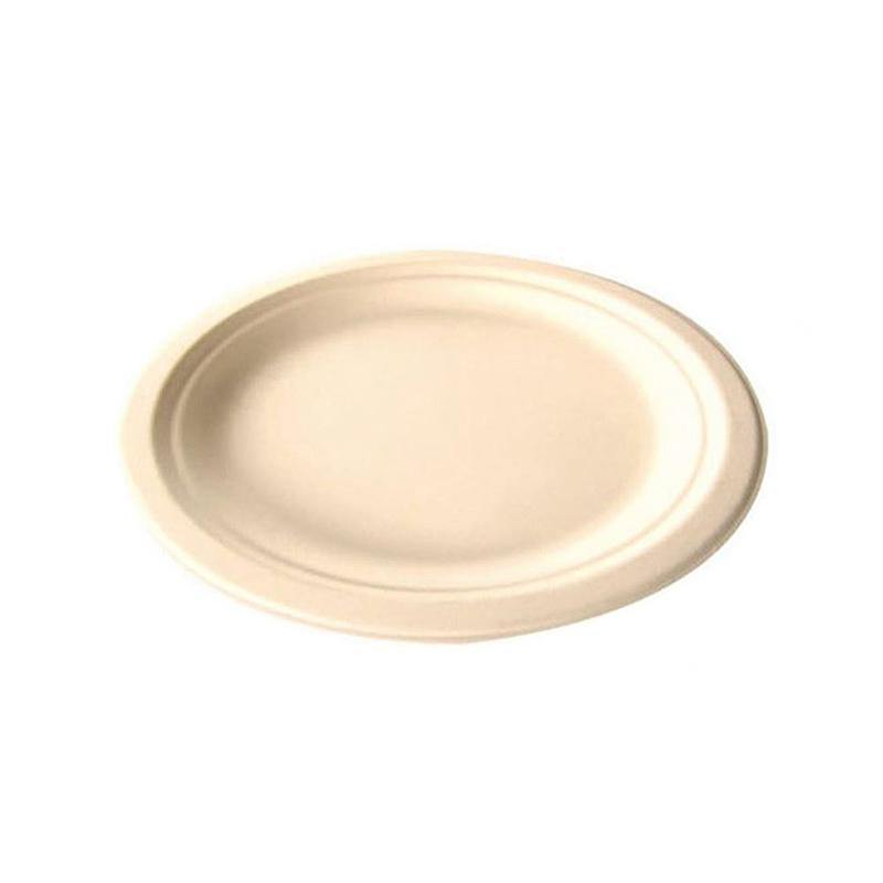 "6.75"" Sugarcane Disposable Plate"