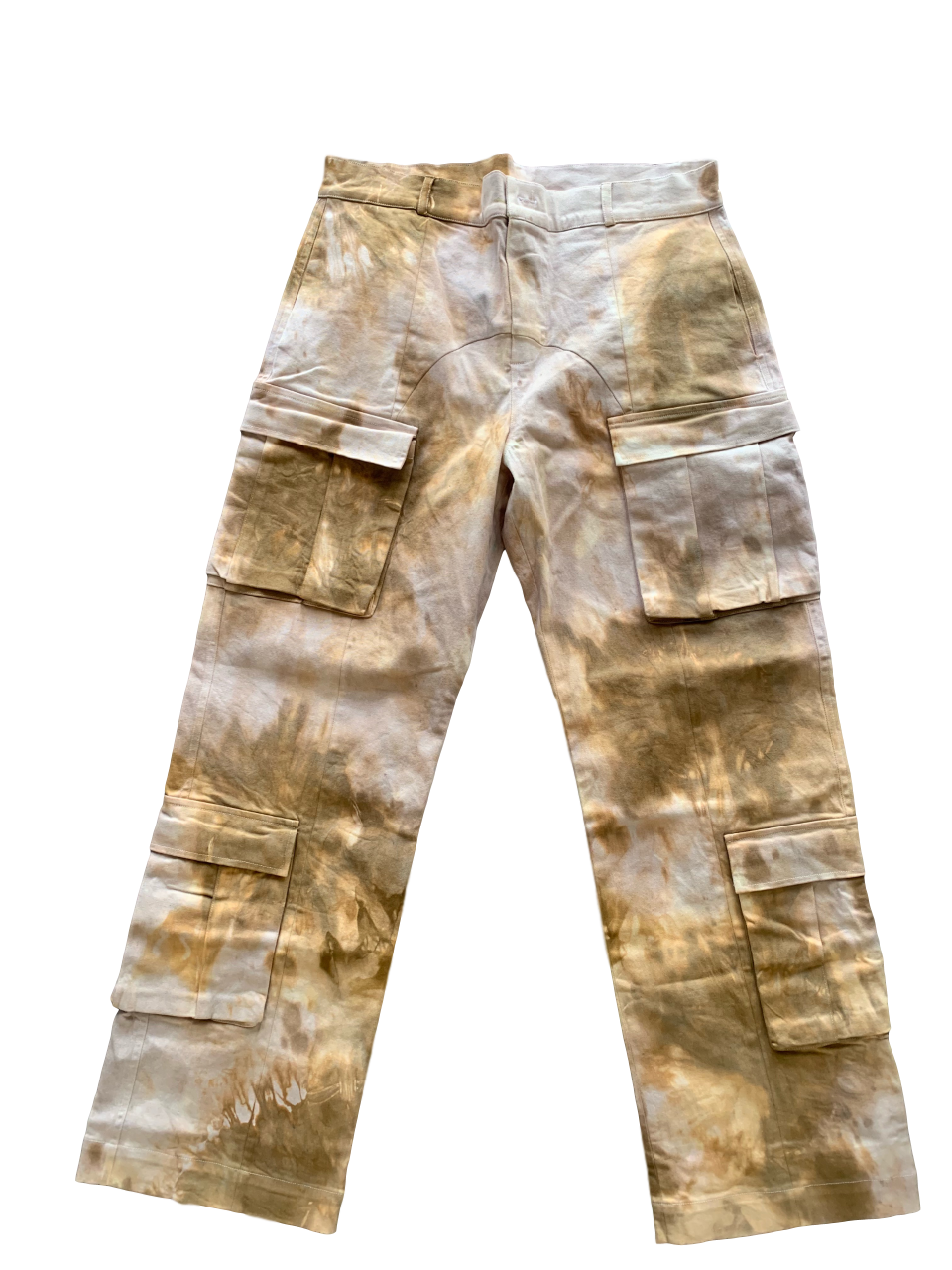 Tie-Dye Cotton Cargo Trousers