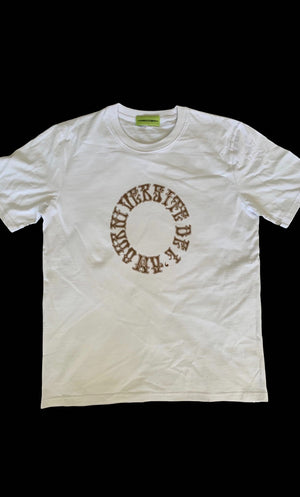 White 'University of Love' Graphic T shirt