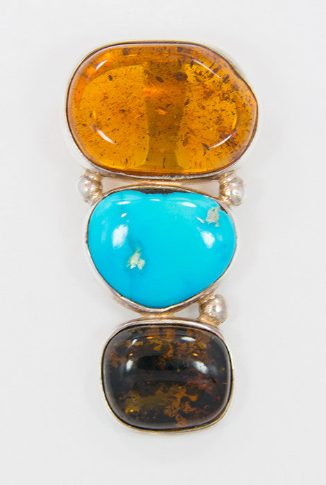 amber /& silver pendant coral turquoise amber   genuine amber necklace 925 silver  multicolour pendant Baltic amber modern pendant