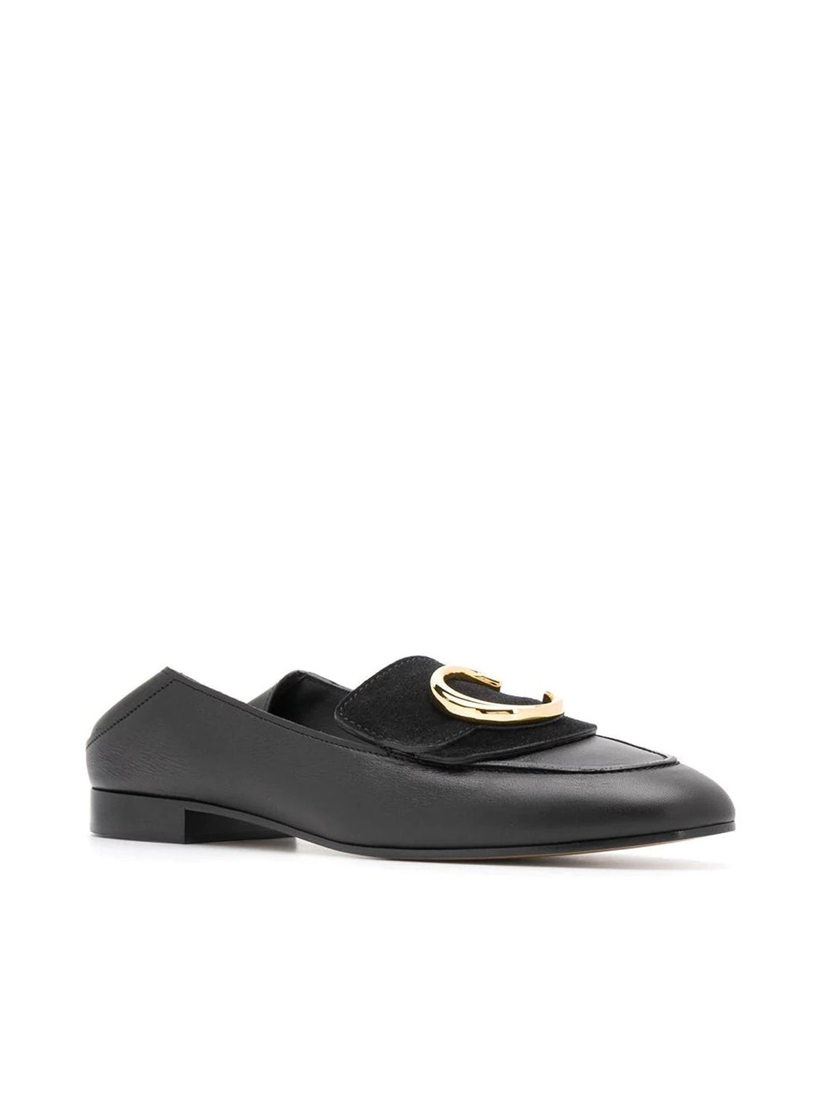 LOAFER WITH BRASS GOLD LOGO