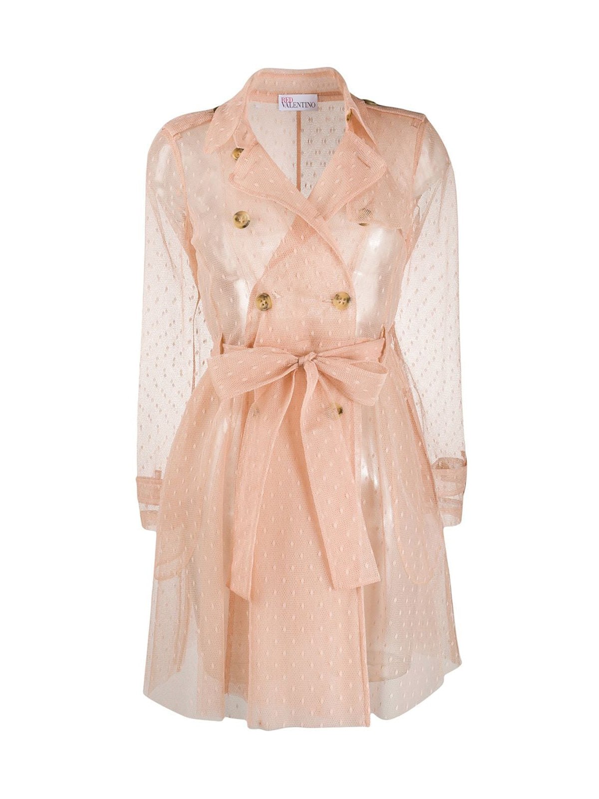 CAPPOTTO TRENCH CORTO TULLE D`ESPRIT POINT