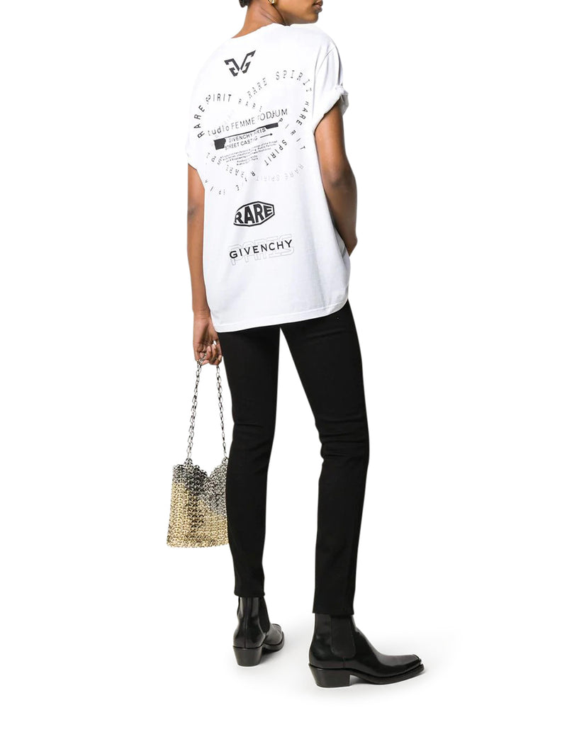 T-SHIRT OVERSIZE STAMPATA GIVENCHY SPIRIT