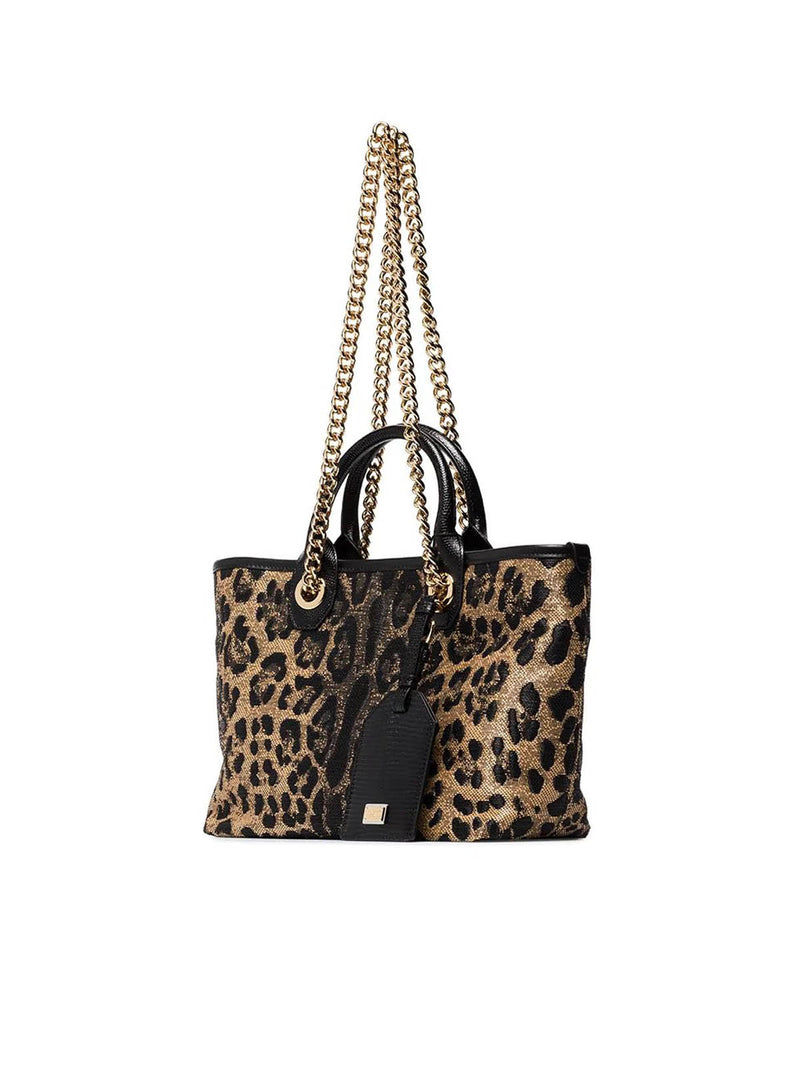 SHOPPER STAMPA LEOPARDATA